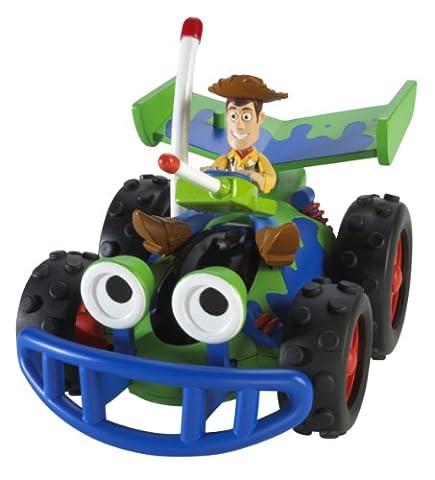 Mattel V0862 - Disney Pixar - Toy Story - Pull & Go Rückziehauto - Fahrzeug mit Woody Figur