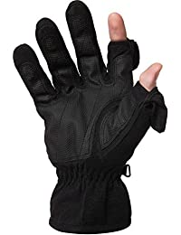 Unisex Thinsulate Fold Back Finger Tip Gloves - with Magnet Fastening -Waterproof and Windproof back, ideal for Skiing or Photography. By Easy Off Gloves.
