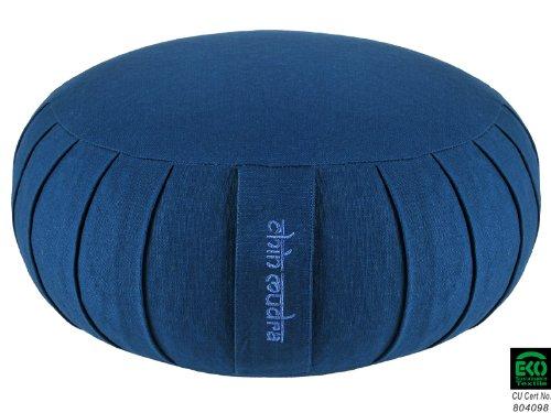 Zafu Confort 100% coton Bio - Epeautre- Bleu