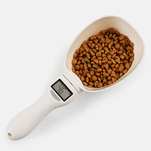 hmmsw Heimtierbedarf 800G / 1G Tiernahrungswaage Tasse Für Hund Und Katze Futternapf Küchenwaage Löffel Messlöffel Messbecher Tragbar Mit Led-Anzeige -