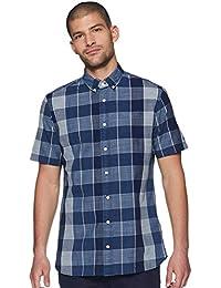 TOMMY HILFIGER Men's Checkered Regular fit Casual Shirt