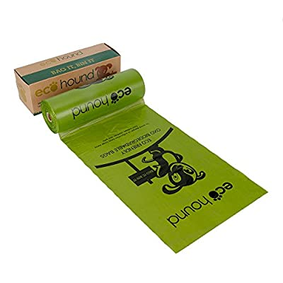 Ecohound Dog Poo Bags Dispenser Roll 300 (Single Roll of 300 Bags) Biodegradable Dog Waste Bags / Poop Bags