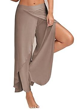 Tenxin Pantalones casuales de mujer, Pantalones de Yoga Pantalones de Fitness Ancho de Algodón Super Suave y Transpirable...