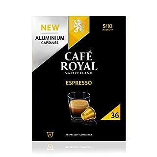Café Royal Espresso 36 Capsules en Aluminium Compatibles avec le Système Nespresso (R)*; Intensité: 5/10