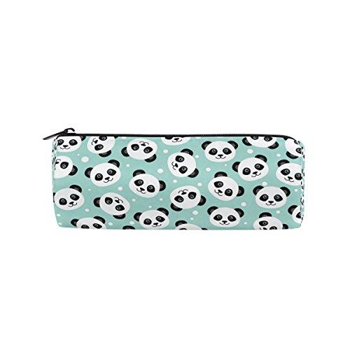 miloha weiß Panda Face Bleistift Stift Tasche für die Tasche, Cartoon Tier Student Büro College Mitte Schule High School Großer Halter Box Organizer