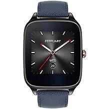 Asus ZenWatch 2 WI501Q, reloj inteligente con correa de piel, azul