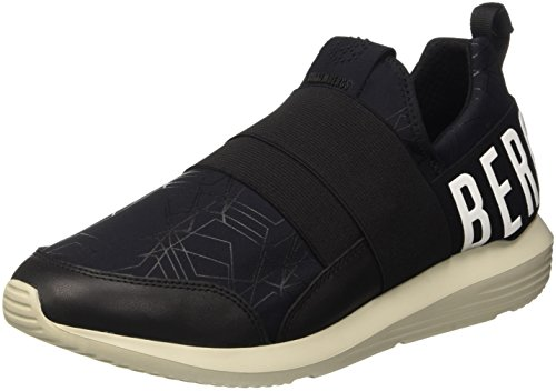 Bikkembergs Speed 583 Shoe M Lycra/Leather, Scarpe Low-Top Uomo, Nero, 42 EU