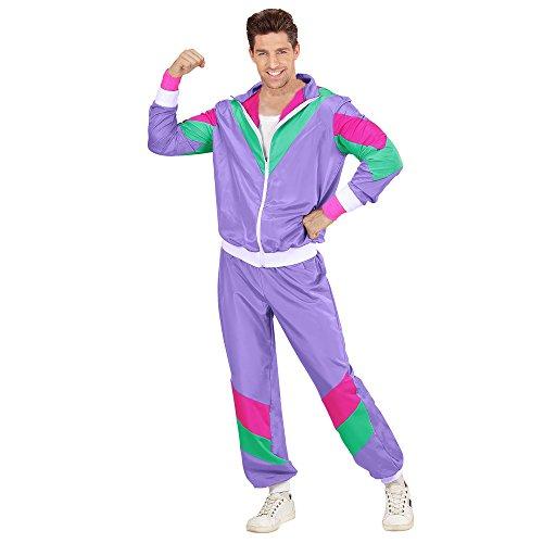 Widmann 98791 Erwachsenenkostüm 80er Jahre Trainingsanzug, mens, S (80er Jahre Kostüm Overall Halloween)