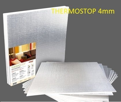 Thermostop Wand Isolierung Isolierplatten mit Alufolie Wärmedämmung (4m2) (Heizkörper Isolierung)