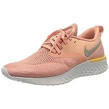 Nike W Nike Odyssey React 2 Flyknit, Women's Competition Running Shoes, Pink Pink Quartz Pumice Platinum Tint Celestial Gold 602, 6 UK (40 EU)