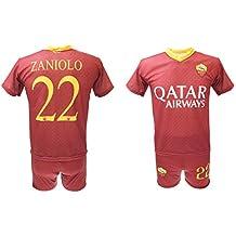 e183a4b04f Completo Zaniolo Roma Ufficiale 2018/2019 AS Roma Adulto Bambino Maglia +  Pantaloncini con Numero