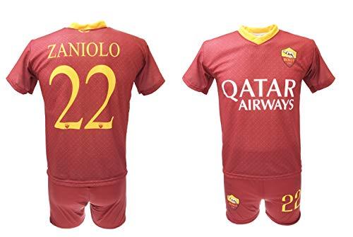 900676566049 Completo Zaniolo Roma Ufficiale 2018/2019 AS Roma Adulto Bambino Maglia +  Pantaloncini con Numero