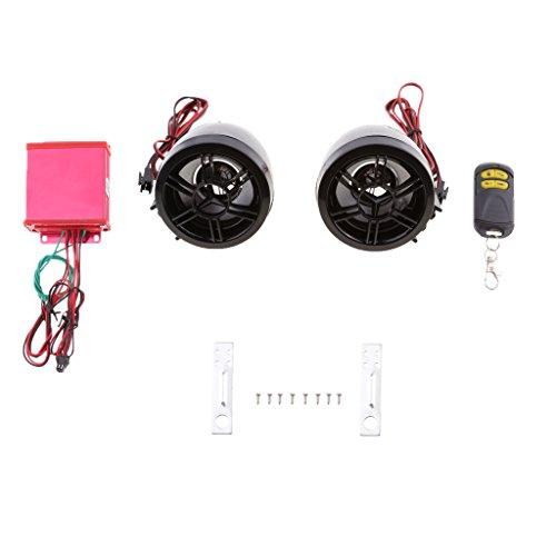 Sharplace Wasserdichter Bluetooth Lautsprecher Audio Radio Sound System MP3 Player für Motorrad Verschleißteile - Schwarz