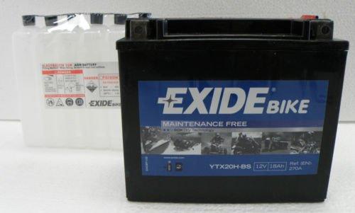Exide YTX20H-BS Moto batteria-18Ah, comprende l' acido