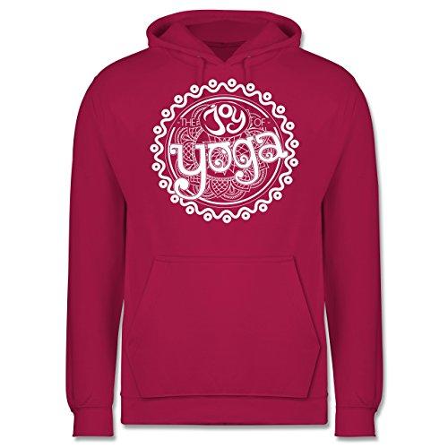Wellness, Yoga & Co. - The joy of yoga - Männer Premium Kapuzenpullover / Hoodie Fuchsia