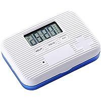 WANGXN Kleine Pill-Box Six Grid Intelligent Time Alarm Reminder Mini Portable Pills Boxs Blue preisvergleich bei billige-tabletten.eu