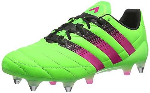 adidas Ace 16.1 SG Leather, Herren Fußballschuhe, Grün (Solar Green/Shock