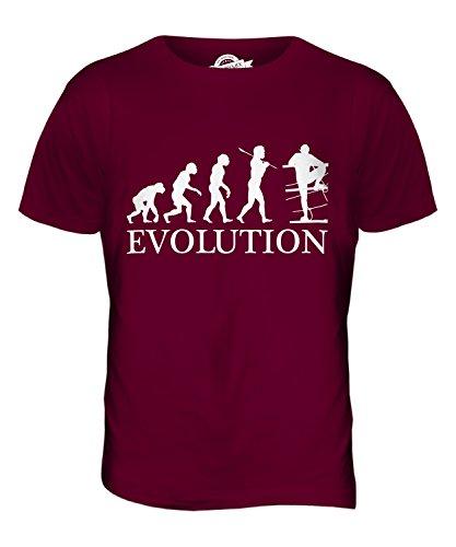 CandyMix Hindernislauf Evolution Des Menschen Herren T Shirt Burgunderrot