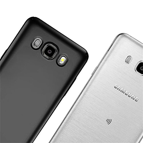Samsung Galaxy J5 2016 Custodia, Aostar Cover Protettiva Ultra Sottile PC case Thin Fit cover Galaxy J5 2016 bumper Schale Backcover per Samsung Galaxy J5 2016 Gold Nero