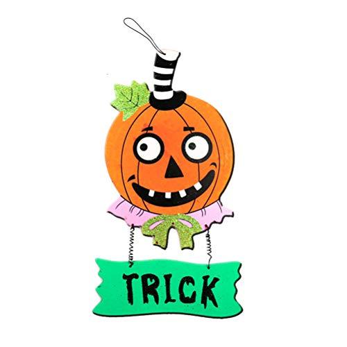 BESPORTBLE Halloween Kürbis Tür hängen Ornamente Anhänger Indoor Outdoor Haustür Zeichen