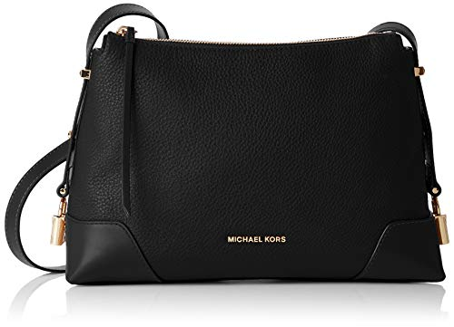 Michael Kors Damen Crosby Medium Messenger Business Tasche, Schwarz (Black), 10.1x20.3x29.85 cm