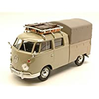 VW TYPE 2 (T1) 1965 PICK UP CLOSED WITH ROOF RACK BEIGE 1:24 MotorMax Auto Stradali modello modellino die cast