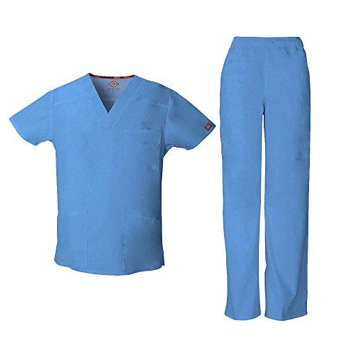 Everyday Scrubs Signature Herren Scrub Set gro? Tall Ceil Blue (Herren Tall Scrubs)