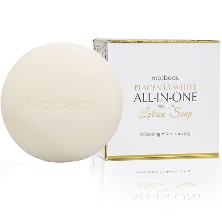 Authentic Mosbeau Placenta White All-In-One Premium Whitening Lotion Soap gives