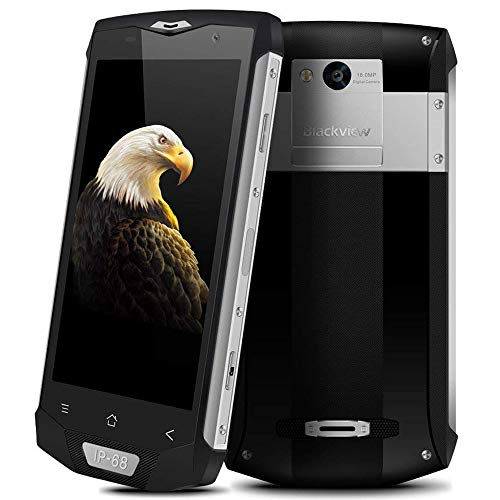 Blackview BV8000Pro Outdoor Handy, 64GB ROM + 6GB RAM IP68 Wasserdichte Stoßfest Staubdicht, 16MP + 8MP Kamera mit 5.0'' FHD Display Outdoor Smartphone,Dual SIM/NFC/GPS,Silber