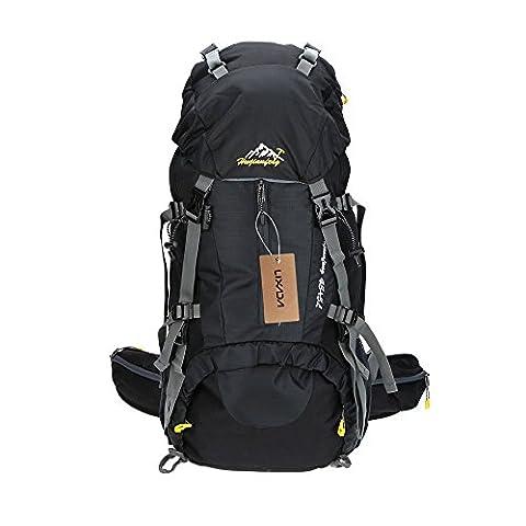 Lixada 45L + 5L Sac à dos avec Housse Imperméable pour Sport Randonnée Trekking Camping Backpack Voyage Paquet Alpinisme