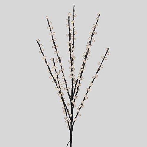 LED-Zweig, 40 warmweiße LEDs, weiß