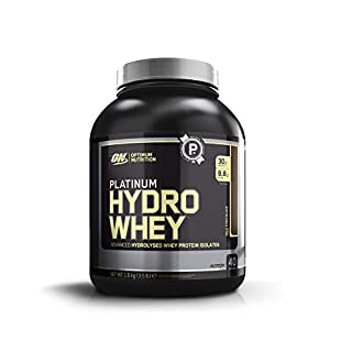 Optimum Nutrition Hydro Whey Whey Protein Powder Isolate with Essential Amino Acids, Glutamine, and BCAA by ON - Milk Chocolate, 40 servings, 1.59kg