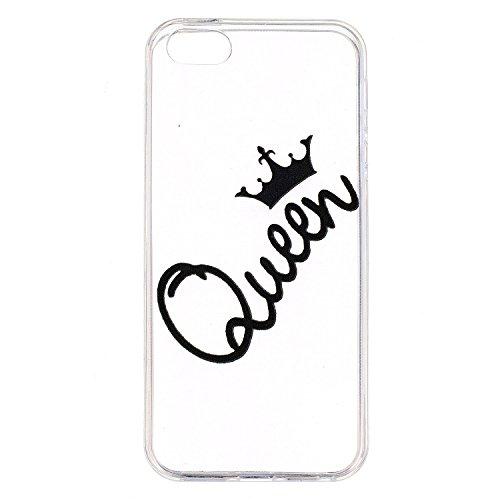 iPhone 5S / iPhone SE Hülle, Voguecase Silikon Schutzhülle / Case / Cover / Hülle / TPU Gel Skin für Apple iPhone 5 5G 5S SE(Einhorn 07) + Gratis Universal Eingabestift Queen