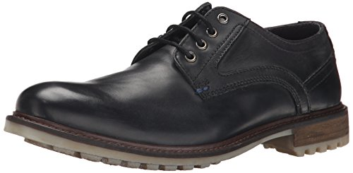 Hush Puppies Rohan Rigby, Oxford à Lacets Homme Noir (black Leather)