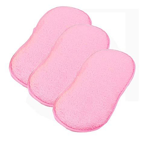 TianranRT 3pcs Tuch Faser Waschen Handtuch Magie Küche Reinigen Abwischen Lumpen (Rosa)