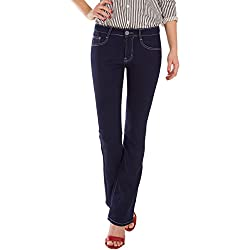 a1ea6e211d Fraternel Pantalones Vaqueros Mujer Corte Bota Boot-Cut Azul Oscuro XXL   44