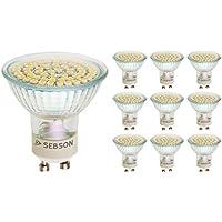 SEBSON LED GU10 Lampe 4W (3,5W), ersetzt 35W Halogen, kaltweiß, 325lm, Leuchtmittel 110°, 230V, 10er Pack