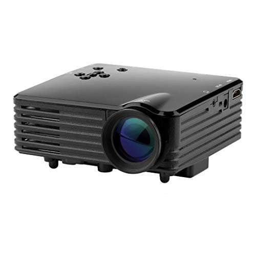 plzlm Indoor tragbarer Mini-LED-Projektor 640x480 Pixel Unterstützt Full HD 1080p-LED-Projektor Video Heimkino-EU-Stecker