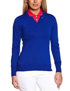 Club Green Eagle Women's Long Sleeve Deep V Neck Sweater - Duke Blue, Medium