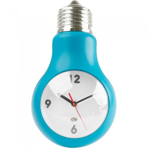 Present Time pt, Wall Clock Bulb ABS Blue