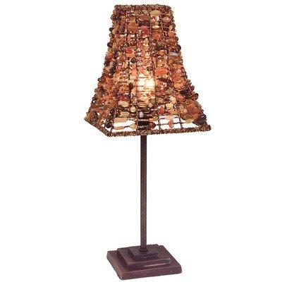 Naeve Leuchten Tischleuchte Bella / h: 40 cm, s: 15.5 cm / Metall, Naturstein / braun 323114 von Naeve Leuchten GmbH - Lampenhans.de
