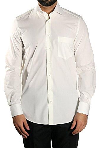 MUGA -  Camicia classiche  - Basic - Classico  - Maniche lunghe  - Uomo Crema