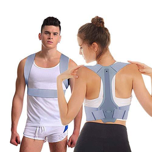 Nasharia Geradehalter zur Haltungskorrektur, Schulter Rücken Haltungsbandage Verstellbare, Rücken Geradehalter Corrector Posture Haltungstrainer für Damen und Herren - (L)