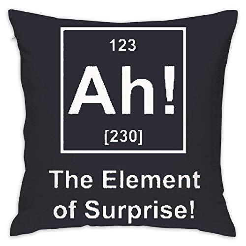 Ah! The Element of Surprise Square Cushion Cover for Chair 18 X 18 Inches (Grau Und Marine-dekorative Kissen)
