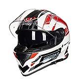 Männer Tank Motorrad Motorrad Helm Frauen Vier Jahreszeiten Antifogging Dounle Lense Full Face Moto Motocross Helme XXXL