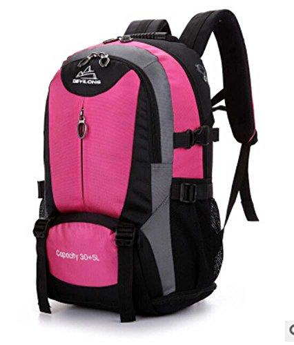All'aperto alpinismo borsa viaggio borsa uomini e donne borse a tracolla borsa grande capacità 30L35L , rose red rose red