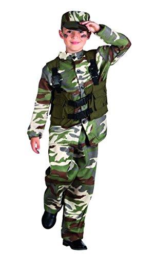 Boland 82188 - Kinderkostüm Soldat, - Halloween Army Männer