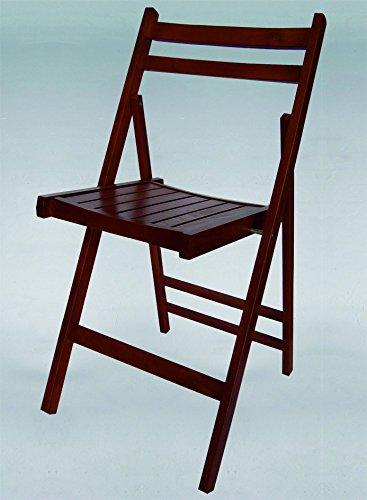 Chaise pliante en bois Couleur Wengé