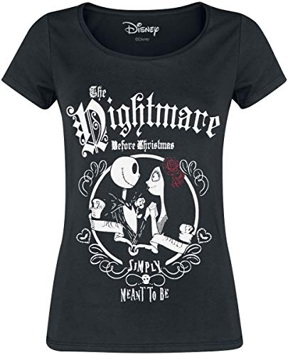 Nightmare before Christmas The Simply Meant to Be T-Shirt schwarz L