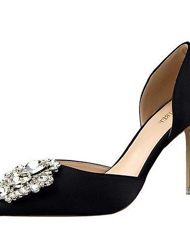 WSS 2016 Chaussures Femme-Décontracté-Noir / Vert / Rose / Rouge / Gris / Or-Talon Aiguille-Talons-Chaussures à Talons-Soie green-us5 / eu35 / uk3 / cn34
